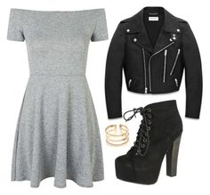 """""""Untitled #127"""" by biggestelfever ❤ liked on Polyvore featuring Topshop, Breckelle's and Yves Saint Laurent"""