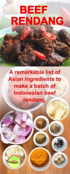 Beef Rendang Recipe (How to make authentic Indonesian Rendang) Armenian Recipes, Irish Recipes, Beef Recipes, Cooking Recipes, Armenian Food, Curry Dishes, Beef Dishes, Easy Asian Recipes, Indian Food Recipes