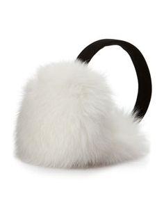 D0RYG Sofia Cashmere Fox Fur Earmuffs, White