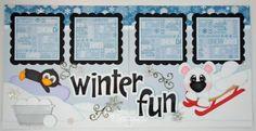 Elite4U-Premade-Scrapbook-Pages-Paper-Piecing-Winter-Snow-Snowball-BLJgraves-160