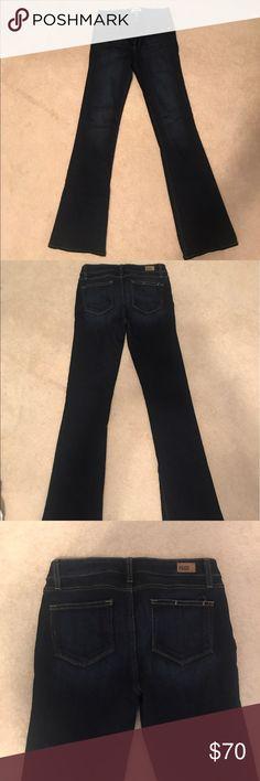 Lou Lou Flare Paige Jean Dark wash; great condition Paige Jeans Jeans