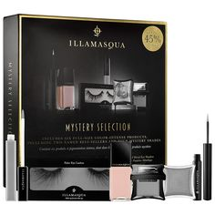 New at #Sephora: Illamasqua Mystery Box. Contains 6 of Illamasqua's bestselling products—including 4 mystery shades! #makeup #makeupsets #valuesets