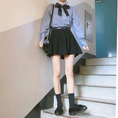 Look at this Trendy korean fashion outfits Korean Fashion Trends, Korean Street Fashion, Asian Fashion, Kawaii Fashion, Cute Fashion, Girl Fashion, Fashion Outfits, Fashion Women, Kawaii Clothes