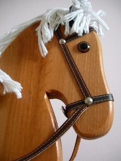 There can be much personal satisfaction in making a rocking horse to give as a gift to a child. Unicorn Rocking Horse, Rocking Horse Plans, Wood Rocking Horse, Wooden Horse, Horse Mane, Horse Head, Stick Horses, Horse Pattern, Wood Sticks