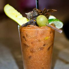 Jerky pickle spicy Bloody Mary! Yummo! !   http://www.bonappetit.com/uncategorized/article/bloody-brilliant-ten-over-the-top-bloody-marys-from-across-the-us