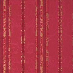 Drexel Stripe #wallpaper in #red from the Repertoire collection. #Thibaut