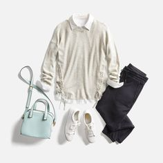 I love this classic look.  Sometimes wonder if i buy sweaters that just make me look bulky though..... W_BLOG_Month-of-Feb-Outfits_Gallery18