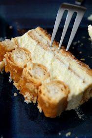 Ciasto francuskie z kremem. Na zimno .Bez pieczenia. Polish Cake Recipe, Polish Recipes, Polish Food, Sweet Recipes, Cake Recipes, Sweets Cake, Cake Cookies, Delicious Desserts, Sweet Tooth