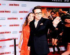 Robert Downey Jr and Susan Iron Man 3 Premier in LA April, 2013