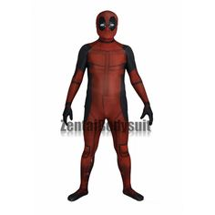 This Movie Deadpool Costume is made of elastic spandex, using heat tranfer printing make it have Visualized Effects,and with metallic texture on the neck, looks very cool. Very suitable for wearing it to cosplay con or any party. Deadpool Costume, Bodysuit, Muscle, Cosplay, Spandex, Costumes, Suits, Superhero, How To Wear