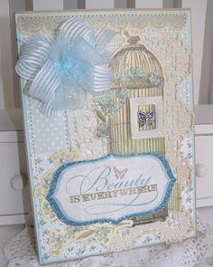 Bird cage card (Annettes paper bistro)
