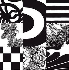 """Marimekko """"Yhdessä"""" (Together), by Maija & Kristina Isola Marimekko Fabric, Tom Dixon, Vintage Patterns, Simple Style, Vintage Black, Printing On Fabric, Safari, Symbols, Graphic Design"""
