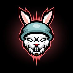 rabbit soldier gaming mascot e sport logo - Buy this stock vector and explore similar vectors at Adobe Stock Logo D'art, Bold Logo, Art Logo, Team Logo, Corporate Logo Design, Game Logo Design, Logo Rabbit, Logo Abstrait, Logo Free