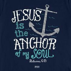 """This Kerusso Christian t-shirt features a glittering silver anchor and the words of scripture from Hebrews """"We have this hope as an anchor for the soul, firm and secure. Bible Verses Quotes, Bible Scriptures, Faith Quotes, Me Quotes, Anchor Bible Verses, Bible Quotes For Teens, Printable Scripture, Peace Quotes, The Words"""