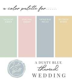 Dusty Blue Blush Pink and Green Wedding Color Combination with Free Color Swatch Palette Card and Cactus Smartphone Wallpaper - Matching Inspiration, and Succulents Wedding Invitation Suite Pink Yellow Weddings, Blush Wedding Colors, Blue And Blush Wedding, Dusty Blue Weddings, Blush Pink, Green Wedding, Wedding Navy, Card Wedding, Vintage Colour Palette