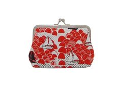 Martha Kiss-Lock Purse - Boats