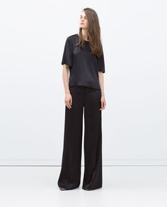 ZARA - COLLECTION AW15 - WIDE-LEG STUDIO TROUSERS