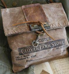 cinnamon creek dry goods   Clover Farm Store Bag...#3 ~ 11x 11...44-