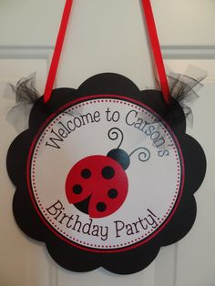 Ladybug door sign