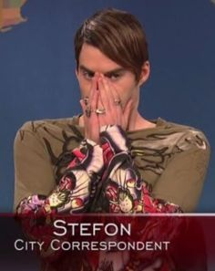 "Bill Hader in character as ""Stefon"" from Saturday Night Live - So hilarious! I love Bill Hader! Saturday Night Live, Stefon Snl, Snl Weekend Update, Snl Characters, Snl Skits, Little Doll, I Love To Laugh, Funny People, The Funny"