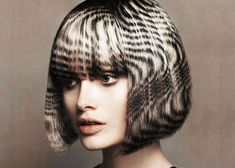 Hair Stencilling - Monochrome Pattern #SS13 hair trends.
