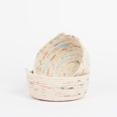 Handcrafted in Melbourne, you're sure to love the new range. Made entirely from cotton rope, the soft sided basket is perfect for housing all those little nicknacks.• Original Large Style • 100% hand made from cotton rope and water based acrylic paint • Vessel measures approx 19.5cm Across Opening // 7cm Height • Due to the handcrafted nature of this basket, plus its soft sides, sizes may vary slightly. Each basket is one of a kind! • This basket can be gentl...