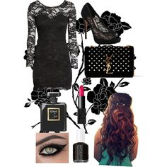 A fashion look from November 2014 featuring H&M dresses, Vince Camuto pumps and Yves Saint Laurent handbags. Saint Laurent Handbags, Prom Night, Vince Camuto, Yves Saint Laurent, November, Fashion Looks, Pumps, Shoe Bag, Stuff To Buy