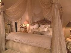 Romantic bedrooms- a bedroom made for a Princess