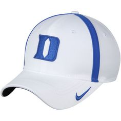 Youth Nike White Duke Blue Devils Coaches Sideline Aerobill Adjustable Hat 5bad21ec3d64