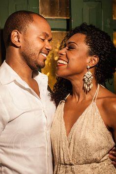 Wladimir Pinheiro e Vilma Melo no musical Quando a gente ama