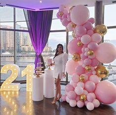 birthday decorations birthday vibes at Lights by Balloons @ Simple Birthday Decorations, Balloon Decorations Party, 21st Birthday Centerpieces, 21st Party, 18th Birthday Party, Love Surprise, 21st Bday Ideas, Birthday Goals, Balloon Gift