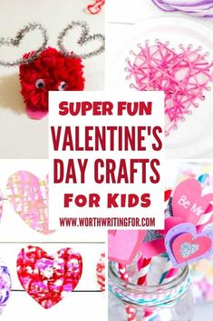 Super fun Valentines Day crafts for kids! If you need fun Valentine's day activities for kids to make at home or at a Valentines Day party these holiday kids crafts are exactly what you need! The best Valentines Day craft ideas for heart filled fun! Valentines Day Activities, Valentines Day Party, Holiday Activities, Valentine Day Crafts, Family Activities, Valentine's Day Crafts For Kids, Children Crafts, Fun Activities For Toddlers, Kids Up