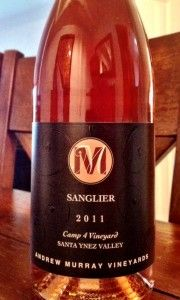 Andrew Murray Vineyards 2011 Sanglier- Not you typical Rosé! ($15, A-)