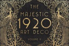 The Majestic Art Deco Patterns Collection takes you back to the with the Gatsby style and the elegant geometric shapes. Up to off this product! Art Deco Pattern, Pattern Design, Snapchat, Art Deco Invitations, Paper Towns, Photoshop, Modern Art Deco, Branding, First Art