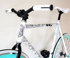 LEGACY builds uploaded by thisfatzoo on We Heart It Fixi Bike, Bicycle Art, Velo Design, Bicycle Painting, Bike Frame, Fixed Gear, Black Letter, Bugatti Veyron, Skull Art
