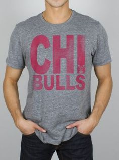NBA Chicago Bulls Time Out Triblend - - Junk Food Clothing large
