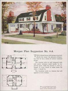 1923 Dutch Colonial Revival - Morgan Sash & Door - 'Building with Assurance' No. Gambrel Barn, Gambrel Roof, Dutch Colonial Homes, Colonial Exterior, Sims Building, Building Homes, Suburban House, Vintage Architecture, House Architecture