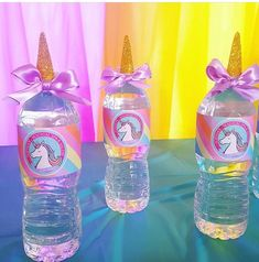 Unicorn water bottles