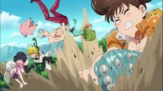 Elizabeth Liones, Meliodas, Hawk, Ban, King & Diane - Nanatsu no Taizai (The Seven Deadly Sins)