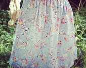 Handmade Popeye Sailor Print Vintage Style Skirt