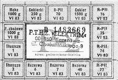 Rationing card