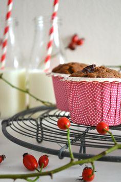 Schoko Cranberry Muffins mit Apfelmus Rezept Cranberry Muffins, Cereal, Strawberry, Fruit, Breakfast, Food, Applesauce Muffins, Recipies, Morning Coffee