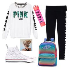 School day outfit #3 by kaileyknaak on Polyvore featuring polyvore fashion style Victoria's Secret Converse Vans clothing