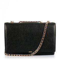 Victoria Beckham Hexagonal Chain Bag Black | GarmentQuarter