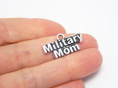Military Mom charm military pendants 25 X by LKMJewelryDesigns