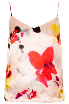 Stunning print - gorgeous under a jacket, with jeans or team with beautifully cut skirt for weddings - Floral Satin Cami by Topshop Satin Cami Top, Senior Girls, Cami Tops, Style Guides, Floral Wedding, Camisole, Fashion Photography, Asos, Tie Dye