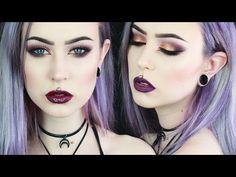 Sexy Purple Gold Smokey Eye | Two Lip Options - YouTube