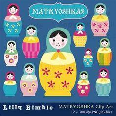 matryoshkas clip art, yah hatchu!