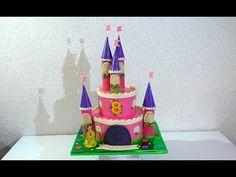 Торт ЗАМОК для принцессы МК Как сделать торт ЗАМОК мастер-класс - YouTube