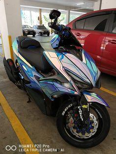 Scooter Custom, Custom Bikes, Aerox 155 Yamaha, Honda Pcx, Yamaha Scooter, Drag Bike, Super Bikes, Cars And Motorcycles, Motorbikes